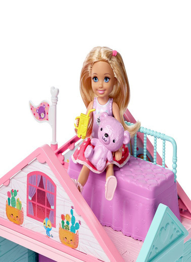 Barbie Barbie Chelsea'nin İki Katlı Evi DWJ50 Renkli